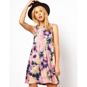 ASOS Tie Dye Smock Dress Size 2